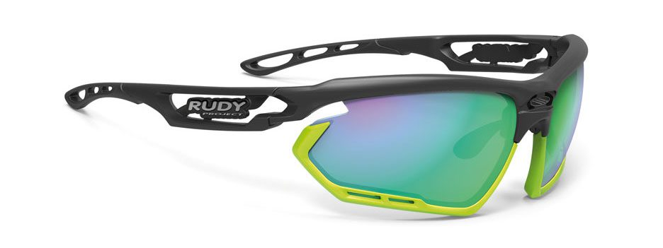 SP456106-02 משקפי שמש דגם FOTONYK של רודי פרוג'קט, צבע שחור-ירוק