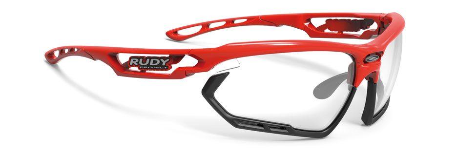 SP457345 משקפי שמש דגם FOTONYK של רודי פרוג'קט, צבע אדום-שקוף