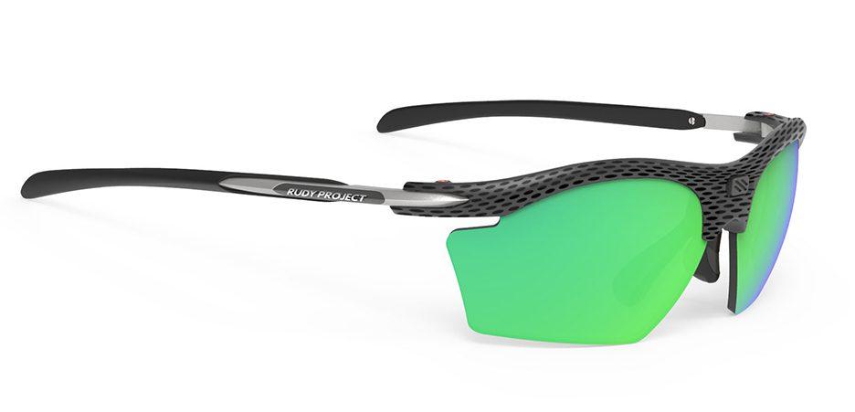 SP546114 משקפי שמש דגם RYDON SLIM של רודי פרוג'קט, צבע קרבון פולר ירוק