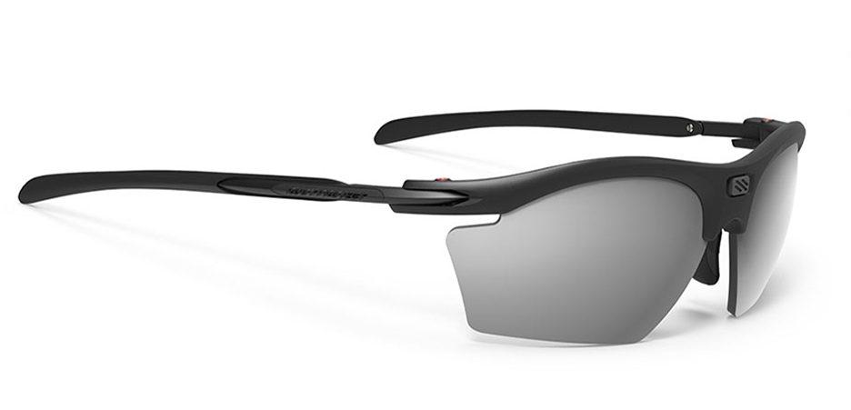 SP540906-01 משקפי שמש דגם RYDON SLIM של רודי פרוג'קט, צבע שחור מראה כסוף