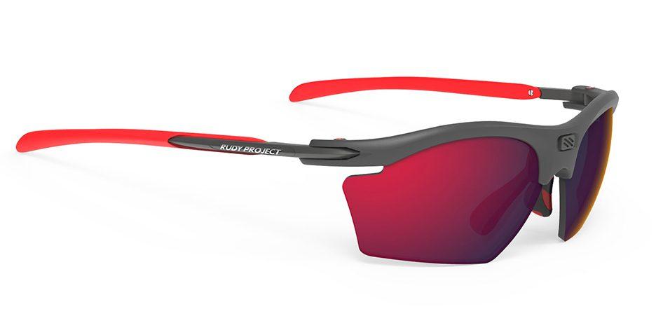SP546298 משקפי שמש דגם RYDON SLIM של רודי פרוג'קט, צבע גרפיט-אדום