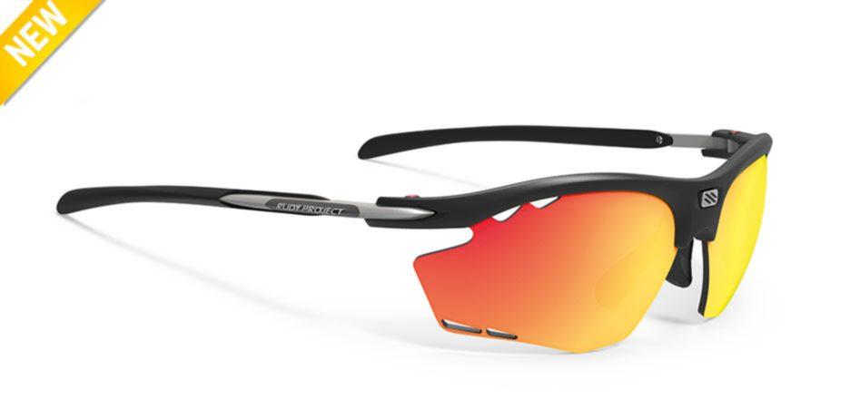 SP534006-OR00 משקפי שמש דגם רידון של רודי פרוג'קט צבע שחור-כתום RYDON RUNNING
