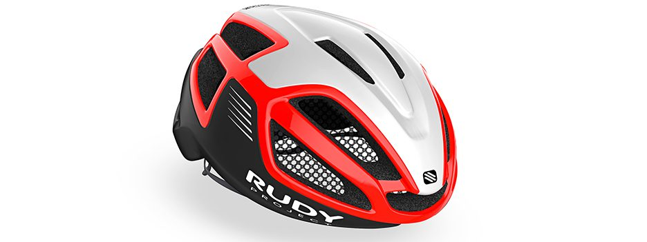 קסדת אופניים לרכיבת כביש דגם ספקטרום צבע אדום-לבן- SPECTRUM